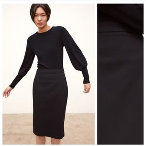 Zara black pencil skirt size 4